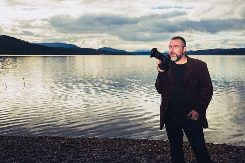 Simon Murray in Loch Rannoch