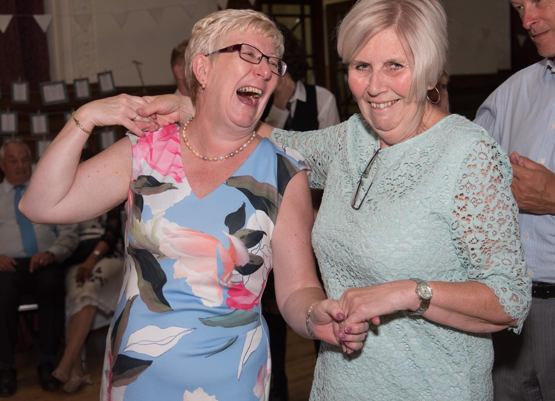Ceilidh dancing at a wedding near Perth 3