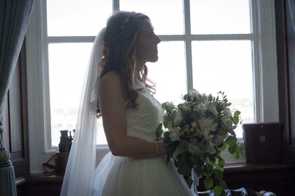 Back of Rachels wedding dress showing her train 2