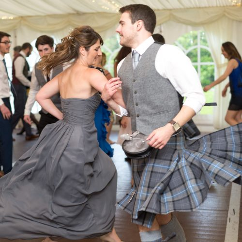 Ceilidh dancing at a wedding near Perth 12