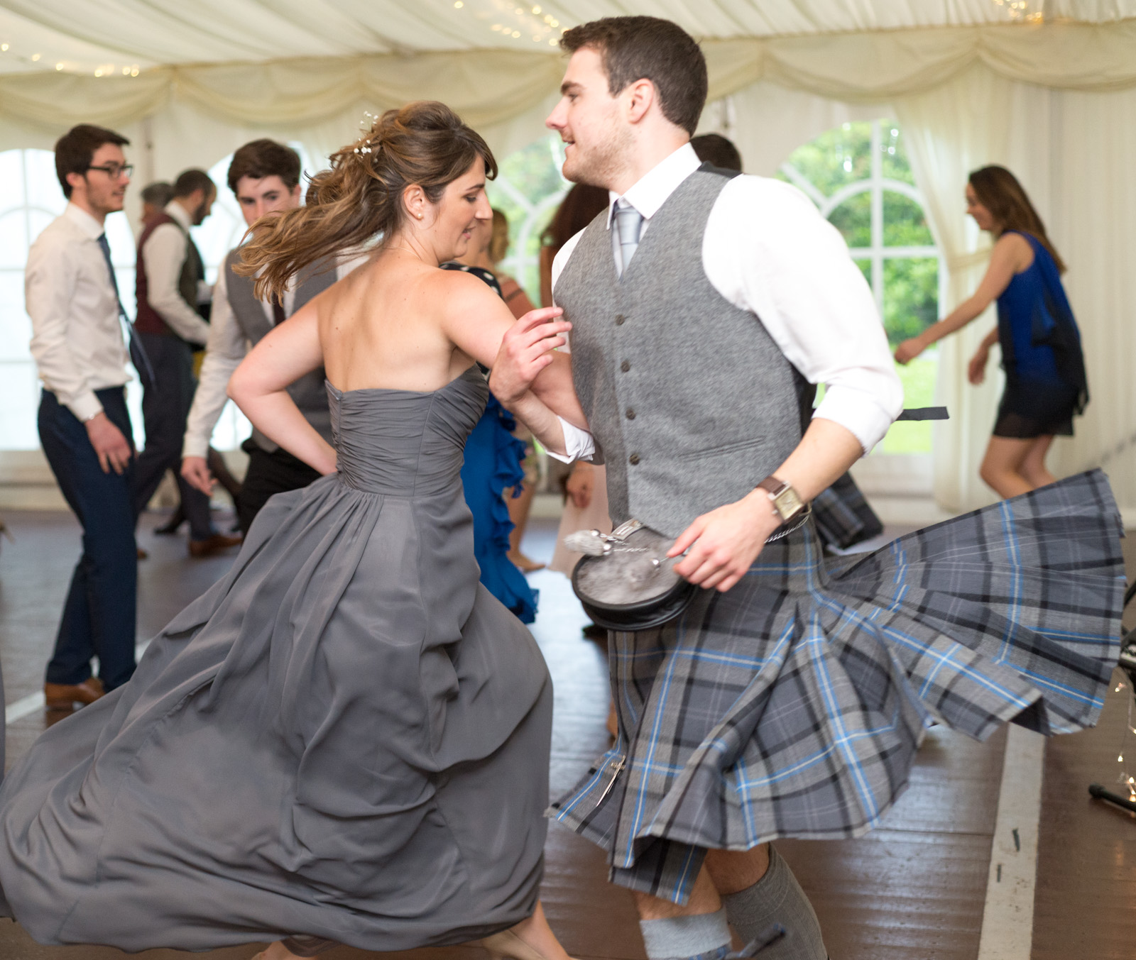 Ceilidh dancing at a wedding near Perth 1