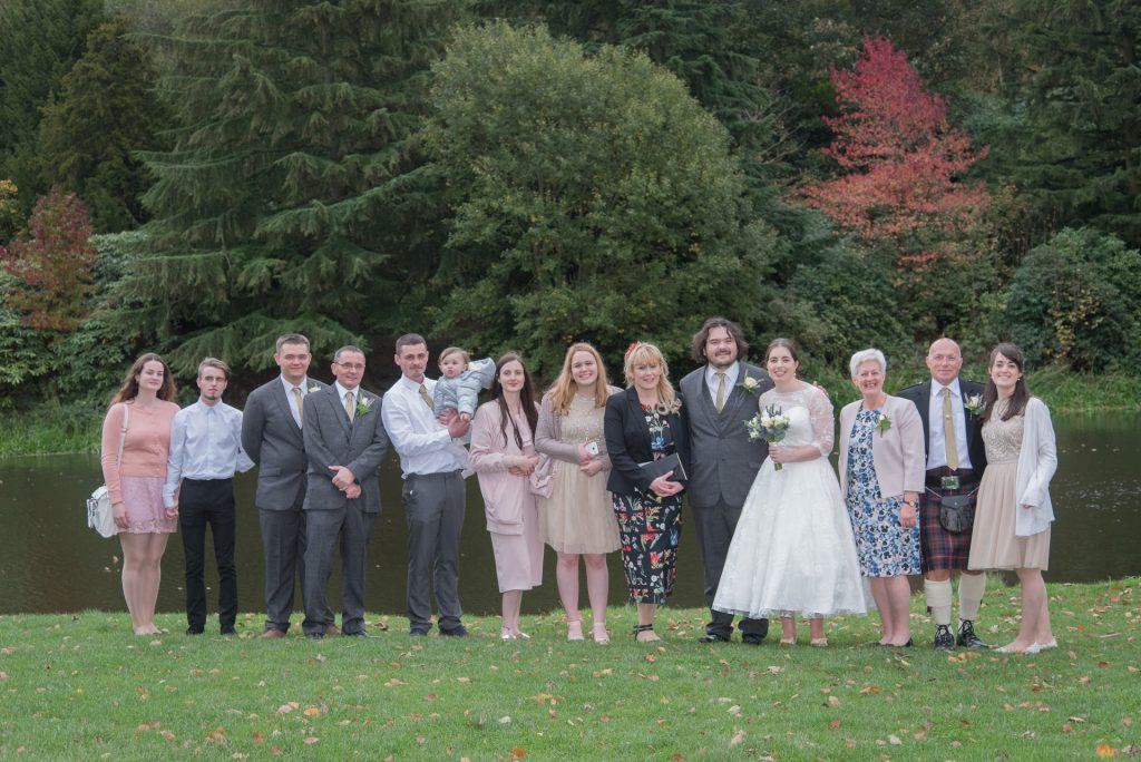 Wedding group at Temple Newsham - James and Morag 1