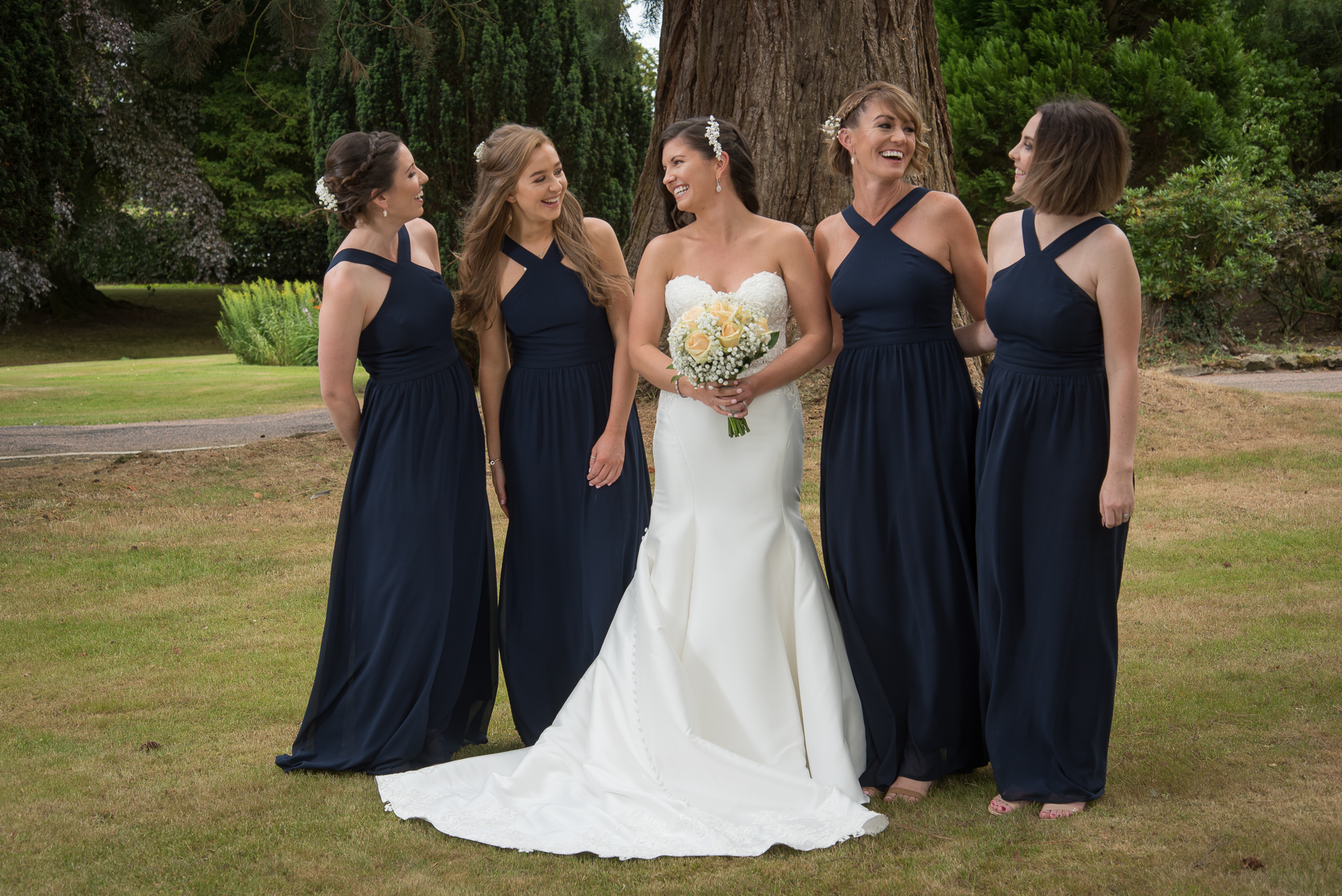 Paul and Meghan at Huntingtower Hotel Perth, the Bride and Bridesmaids 1