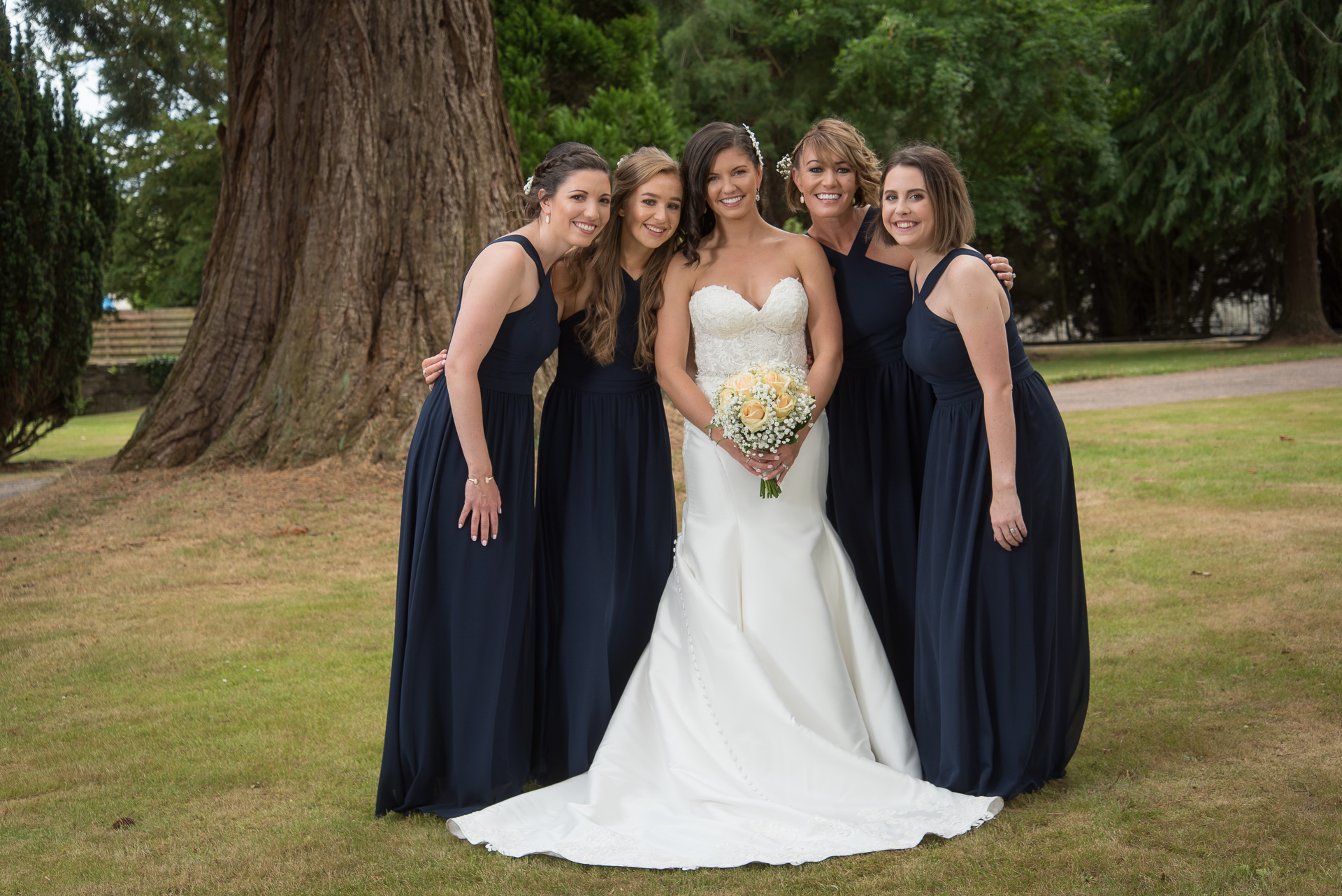 Bride and her Bridesmaids, Perth, Scotland