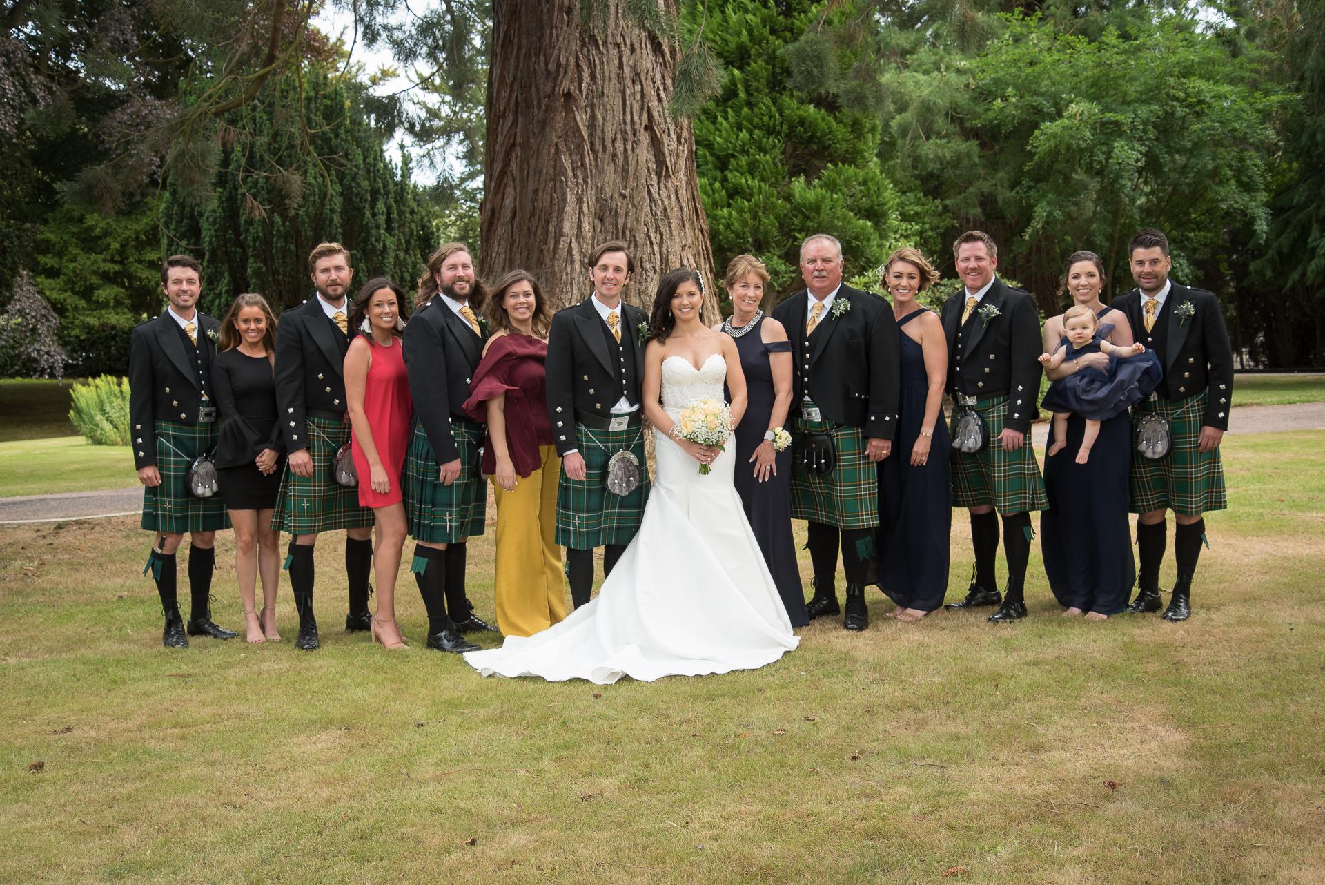 Paul and Meghan at Huntingtower Hotel Perth, the Bride and Bridesmaids 2