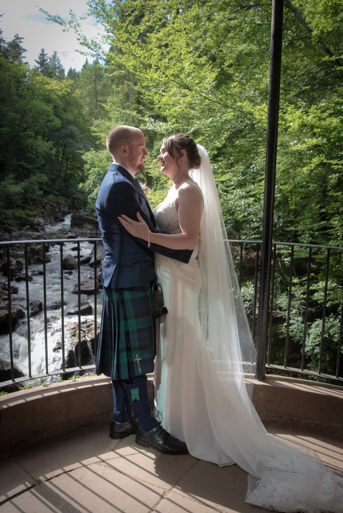 Conor and Lisa, ceremony at The Hermitage near Dunkeld 5
