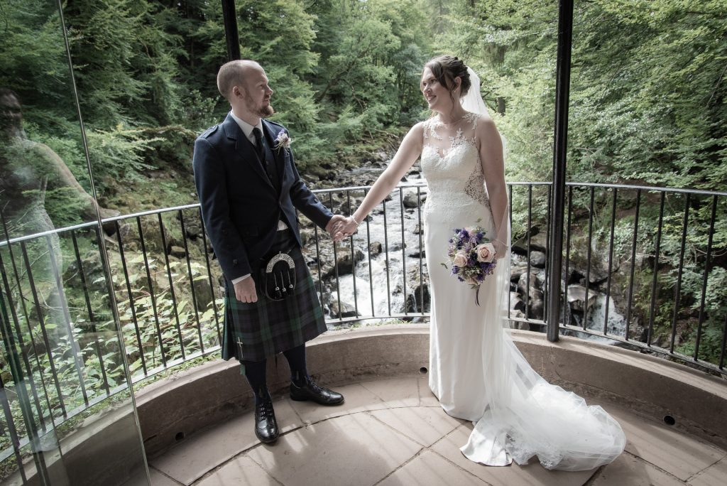 Conor and Lisa, ceremony at The Hermitage near Dunkeld 4
