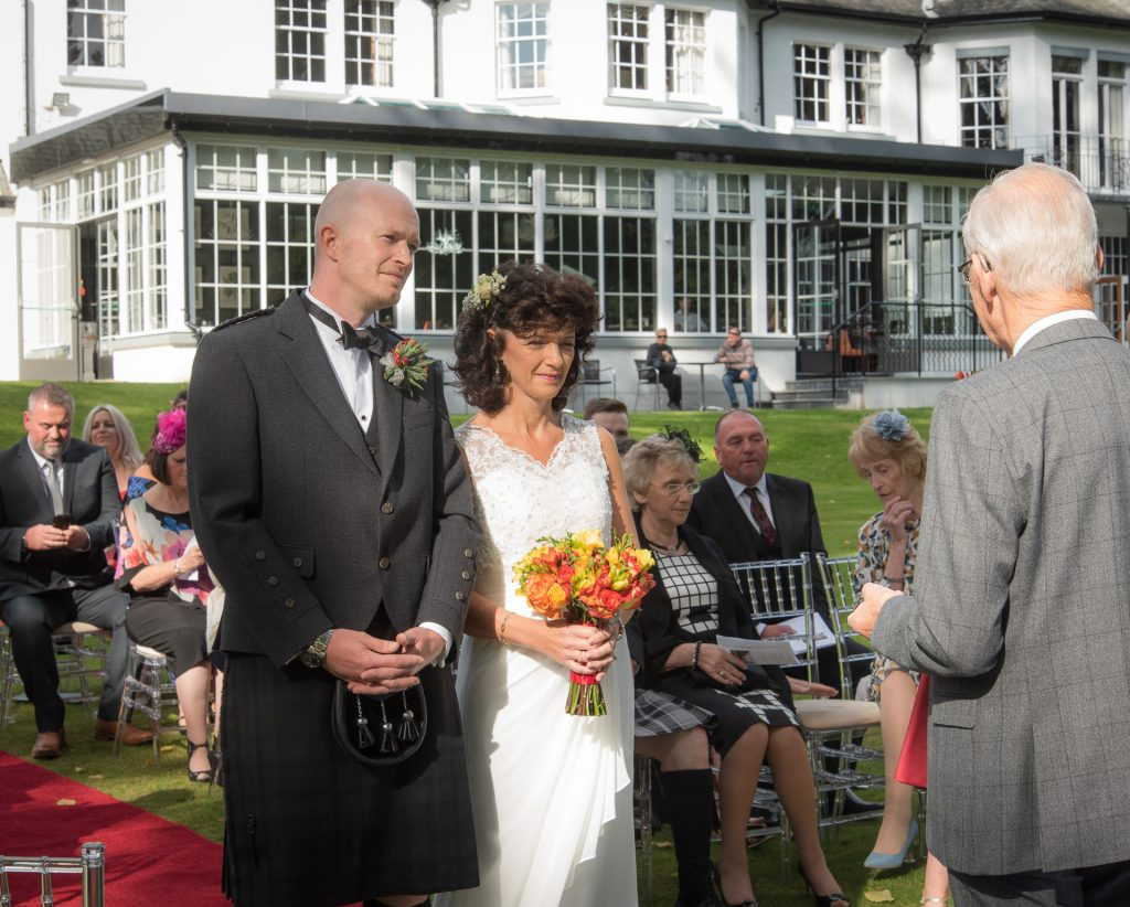 Mark and Kelly at DunKeld House Hotel 2