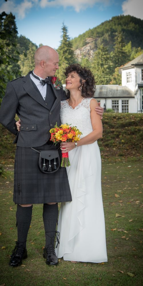 Mark and Kelly at DunKeld House Hotel 5