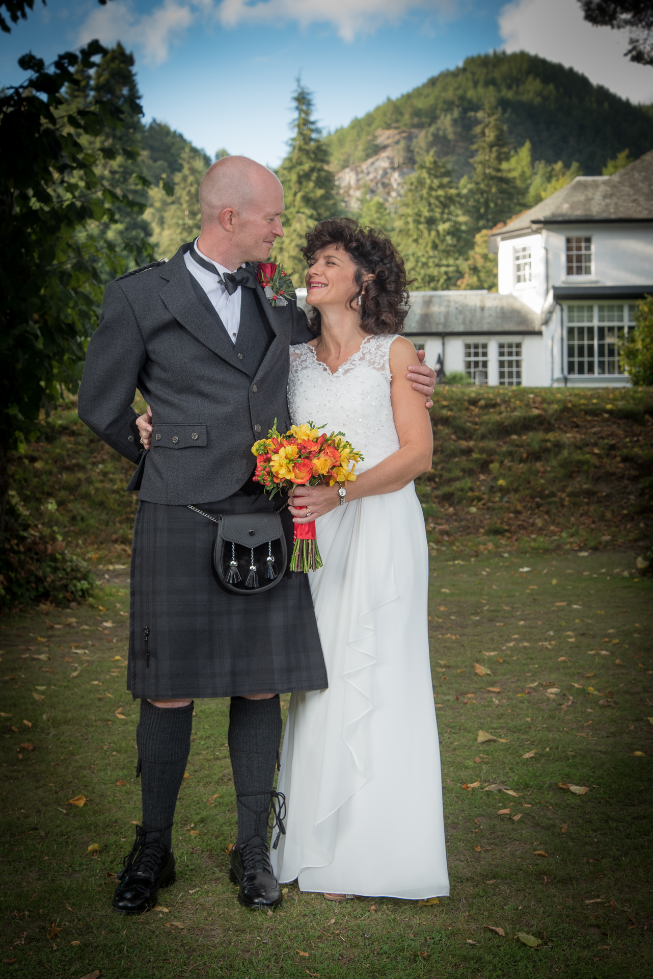 Mark and Kelly at DunKeld House Hotel 1