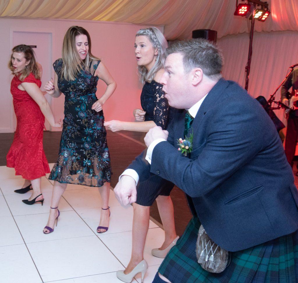 Lotta laughs, fun and dancing - Stephen & Reva at Dunkeld House Hotel 12