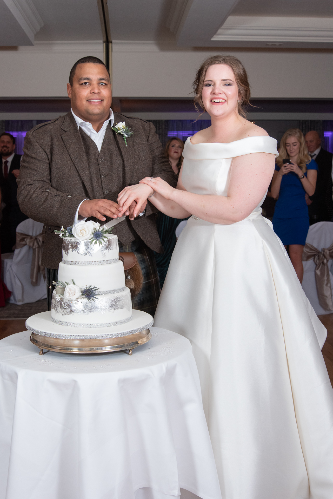Malik and Grace at Murrayshall House Hotel 9