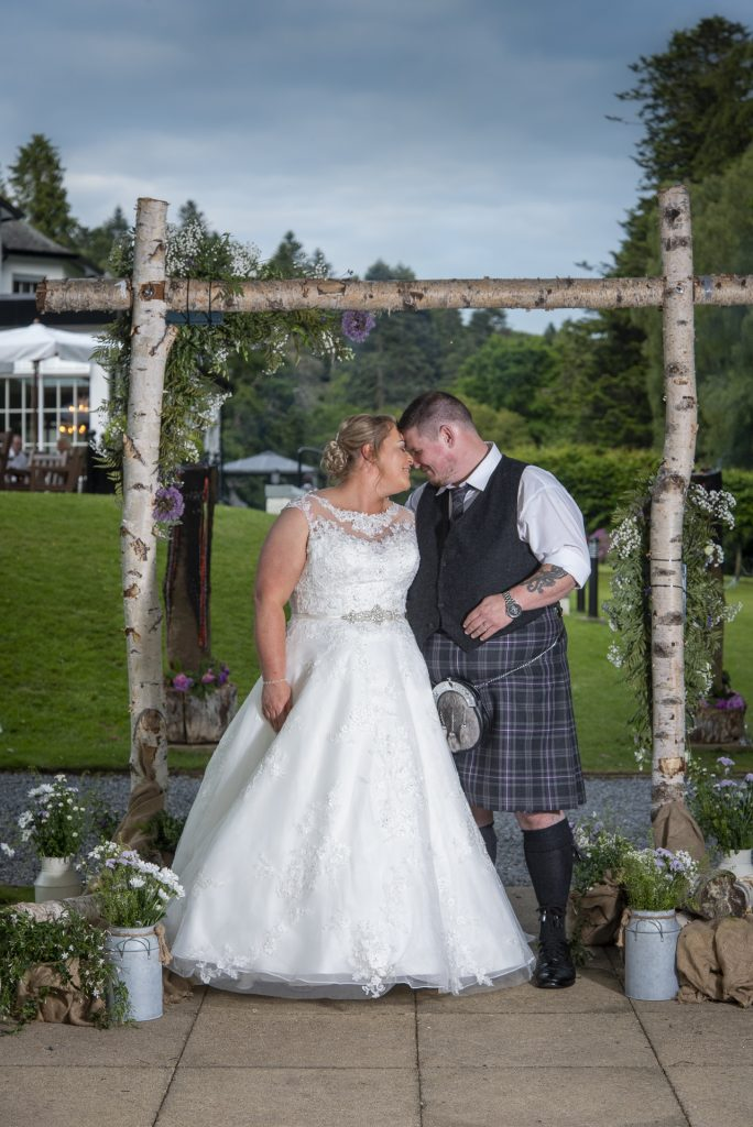 Greig and Pauline at Dunkeld House Hotel 5