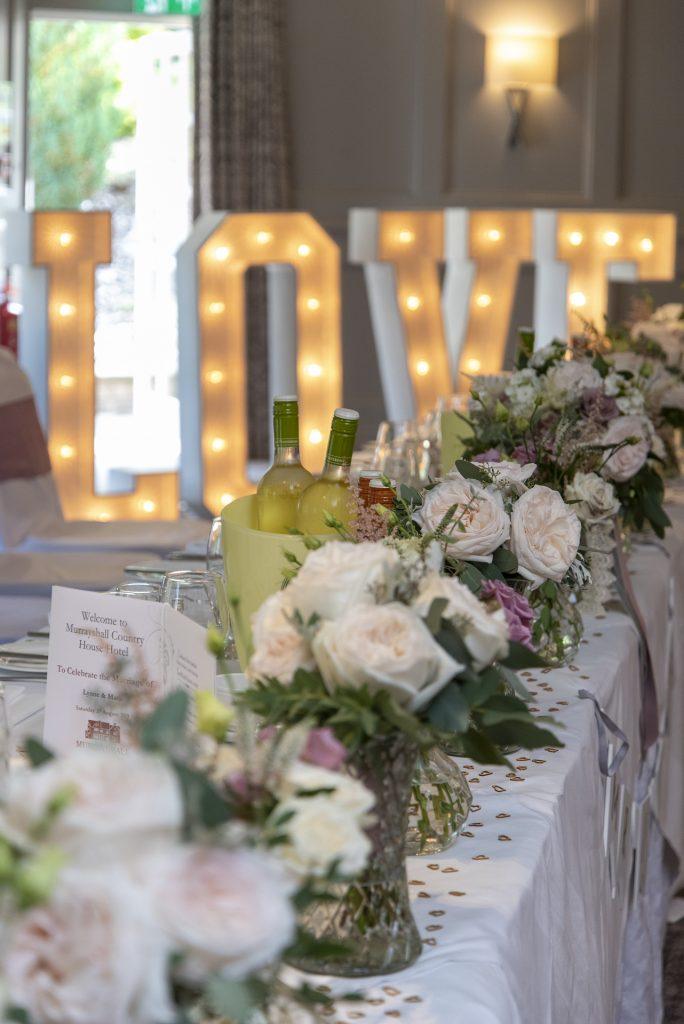 Wedding table setting 15