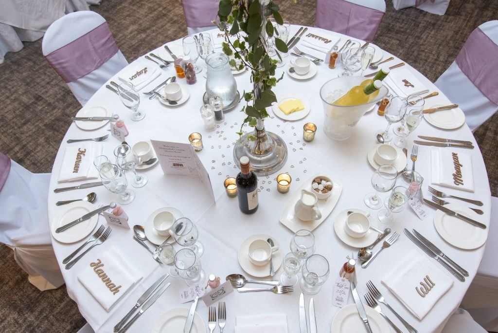Wedding table settings plan 5
