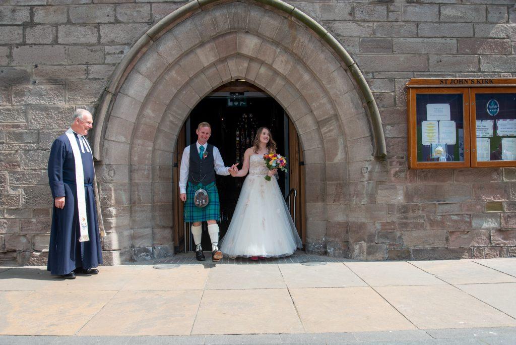 Wedding at St Johns Kirk, Perth